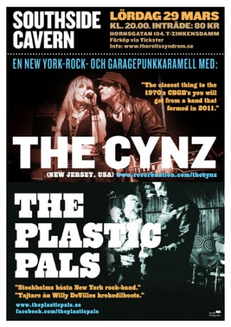 poster for The Cynz and The Plastic Pals in Stockholm