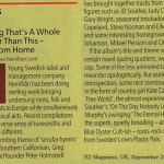"""""""Superb, quitely, brooding roots rock"""" – R2 Magazine, UK, on """"Miracles"""""""