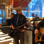 Plastic Pals in acoustic instore at Pet Sounds Records, Stockholm